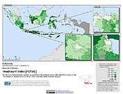 Map: Poverty Headcount Index, ADM2: Indonesia