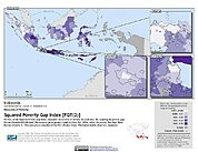 Map: Squared Poverty Gap Index, ADM2: Indonesia