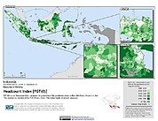 Map: Poverty Headcount Index, ADM3: Indonesia