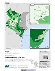 Map: Poverty Headcount Index, ADM3: Kenya