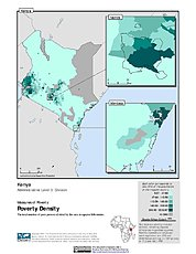 Map: Poverty Density, ADM3: Kenya