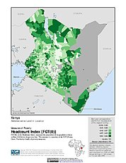 Map: Poverty Headcount Index, ADM4: Kenya