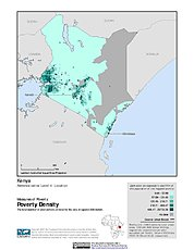 Map: Poverty Density, ADM4: Kenya