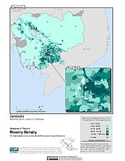 Map: Poverty Density, ADM3: Cambodia