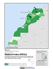Map: Poverty Headcount Index, ADM3: Morocco