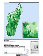 Map: Poverty Headcount Index, ADM3: Madagascar