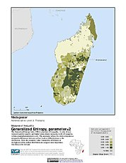 Map: Generalized Entropy Index 2, ADM3: Madagascar
