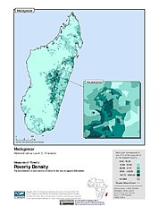 Map: Poverty Density, ADM3: Madagascar