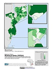 Map: Poverty Headcount Index, ADM3: Mozambique