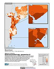Map: Generalized Entropy Index 0, ADM3: Mozambique