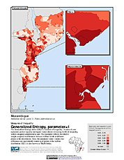 Map: Generalized Entropy Index 1, ADM3: Mozambique