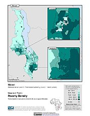 Map: Poverty Density, ADM3: Malawi