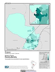 Map: Poverty Density, ADM2: Paraguay