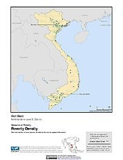 Map: Poverty Density Dots, ADM2: Vietnam