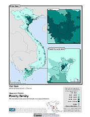 Map: Poverty Density, ADM2: Vietnam