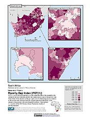 Map: Poverty Gap Index, ADM3: South Africa