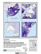 Map: Squared Poverty Gap Index, ADM3: South Africa