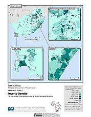 Map: Poverty Density, ADM3: South Africa