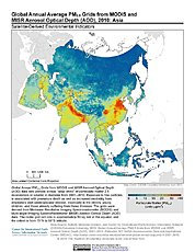 Map: PM2.5 Grids (2010): Asia