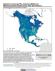 Map: PM2.5 Grids (2010): North America