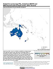 Map: PM2.5 Grids (2010): Oceania