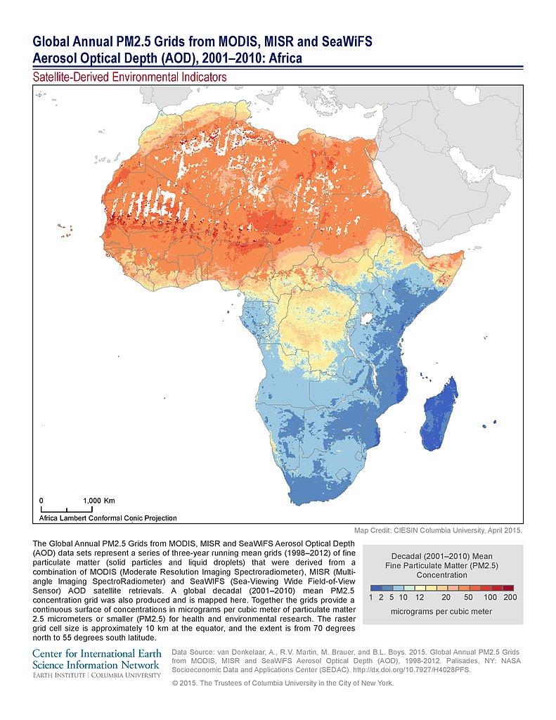 Map Of Africa 2010.Map Gallery Sedac