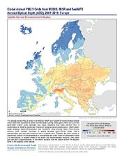 Map: PM2.5 Grids (2001-2010): Europe