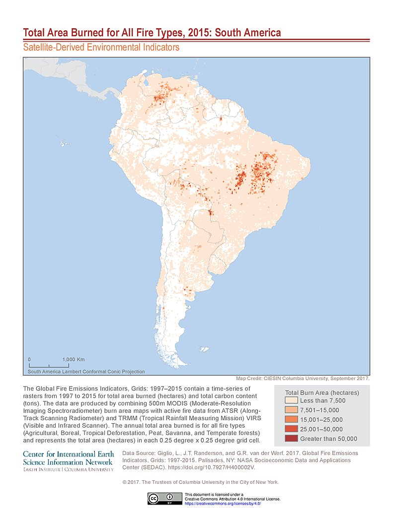 Map Of South America 2017.Map Gallery Sedac