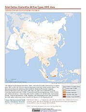 Map: Total Carbon Content All Fire Types (2015): Asia