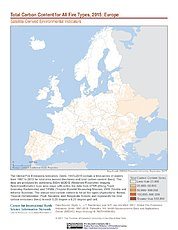 Map: Total Carbon Content All Fire Types (2015): Europe