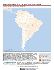 Map: Total Carbon Content All Fire Types (2015): South America