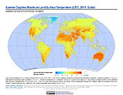Map: Summer Daytime Maximum LST (2013)