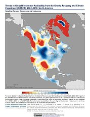Map: GRACE Freshwater Availability Trends (2002-2016): North America