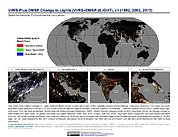 Map: VIIRS Plus DMSP Change in Lights (1992, 2002, 2013)