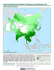 Map: Amphibian Richness, 2015: Asia