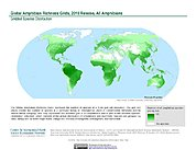 Map: Amphibian Richness, 2015