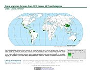 Map: Amphibian Richness - All Threats, 2015