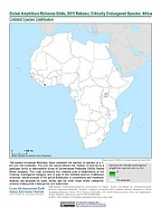 Map: Amphibian Richness - Critically Endangered, 2015: Africa