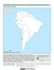 Map: Amphibian Richness - Critically Endangered, 2015: South America