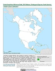 Map: Amphibian Richness - Endangered, 2015: North America