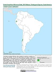 Map: Amphibian Richness - Endangered, 2015: South America
