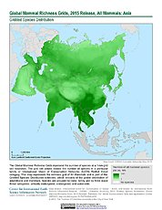 Map: Mammal Richness, 2015: Asia