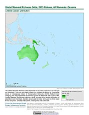 Map: Mammal Richness, 2015: Oceania