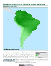 Map: Mammal Richness, 2015: South America