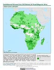 Map: Mammal Richness - All Threats, 2015: Africa