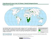 Map: Mammal Richness - Critically Endangered, 2015
