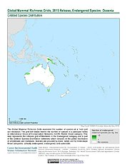 Map: Mammal Richness - Endangered, 2015: Oceania