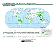 Map: Mammal Richness - Endangered, 2015