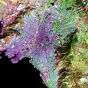 Map: Landsat Image: Athens, Greece