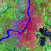 Map: Landsat Image: Calcutta, India